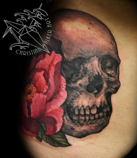 Tattoos - Skull and Peony - 104224